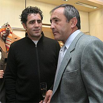 Ballesteros e Indurain durante un acto en 2005.