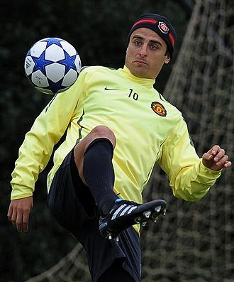 Berbatov, delantero del Manchester United.