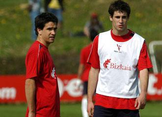 Iturriaga junto a Javi Mart�nez durante su �poca en el Athletic