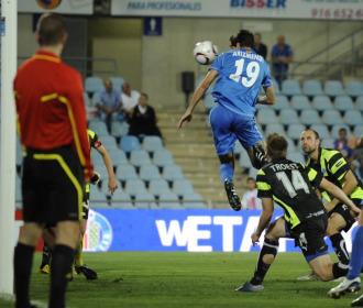 Arizmendi cabecea el gol del empate