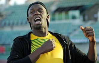 Usain Bolt, en un entrenamiento