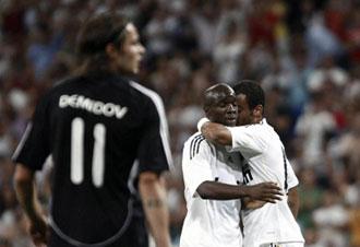 Demidov en un partdo contra el Real Madrid
