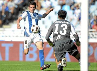Joseba Llorente durante el partido contra el Villarreal.
