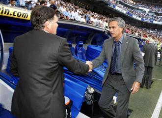 Camacho y Mourinho en el Bernabeu.