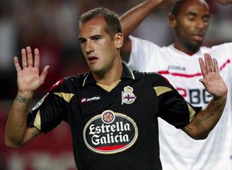 Lopo en el partido contra el Sevilla