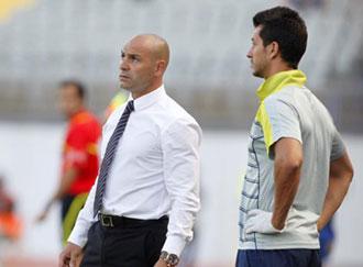 Paco J�mez en el partido de Las Palmas