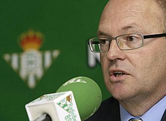 Pepe Mel, durante su presentaci�n como nuevo entrenador del Betis