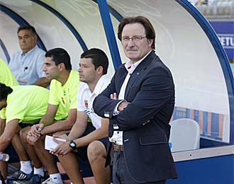 Juan Antonio Anquela, entrenador del Alcorc�n