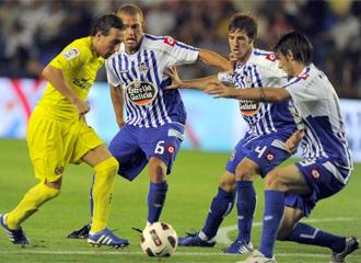 Rub�n P�rez, durante el encuentro de la �ltima jornada ante el Villarreal.