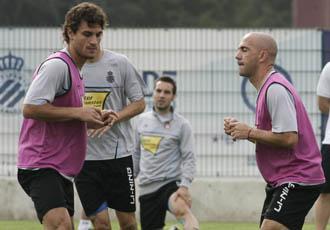 Osvaldo se ejercita junto a De la Pe�a