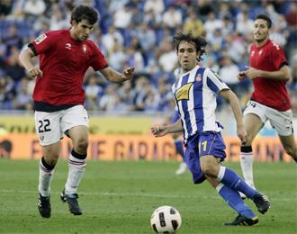 R�per, durante el encuentro del pasado fin de semana ante el Espanyol.