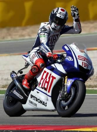 Jorge Lorenzo, en Motorland Arag�n