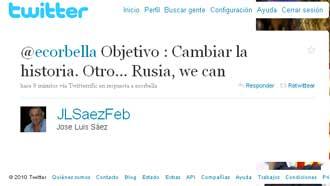 Titular para la previa del Espa�a-Rusia de MARCA.com propuesta por Jos� Luis S�ez en su cuenta de Twitter