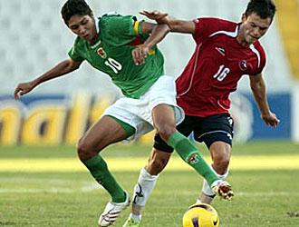 Samuel Galindo, en la imagen durante un partido con la selecci�n de Bolivia, jugar� sus primeros minutos con el Salamanca