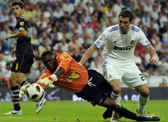 Kameni, durante el encuentro de hace un par de semanas ante el Real Madrid.