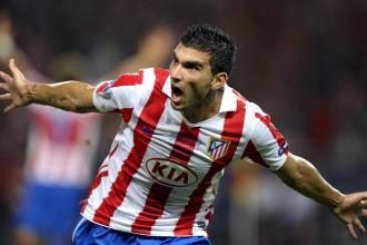 Reyes celebra su gol en la Supercopa de Europa.