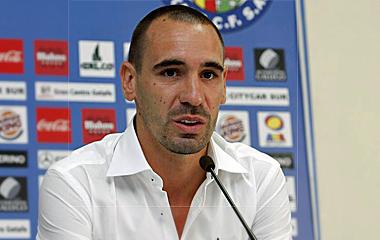 Borja Fern�ndez, en rueda de prensa.