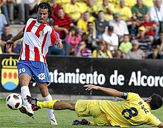 Jandro, en un partido con el Girona