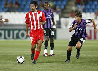 Vargas en un partido ante el Valladolid.