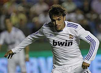 Pedro Le�n, durante el partido que el Real Madrid disput� el pasado fin de semana contra el Levante