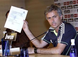 Mourinho muestra su nota