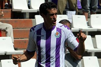 Calle celebra un gol con el Valladolid