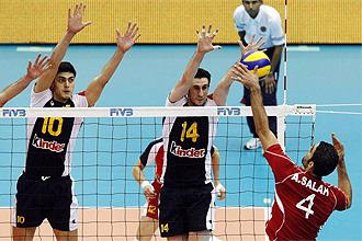 Un momento del partido entre Egipto y Espa�a