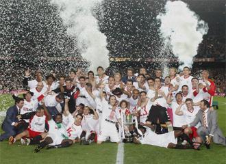 El Sevilla, �ltimo campe�n de Copa.