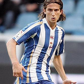Filipe Luis, en el Deportivo.