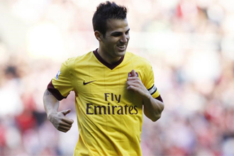 Cesc, durante un partido con el Arsenal