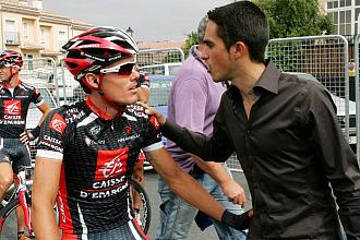 Luis Le�n S�nchez habla con Contador