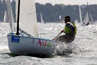 Rafa Trujillo, en una regata