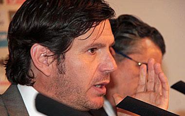 El m�ximo accionista del Mallorca, Mateo Alemany, convoco una rueda de prensa.