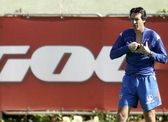 Unai Emery, en Paterna.