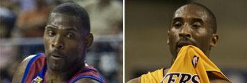 Mickeal y Kobe Bryant