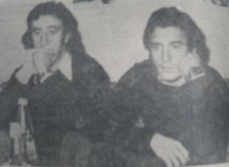 Del Bosque y Rubi��n, siguiendo el Escocia-Espa�a del 74 por televisi�n