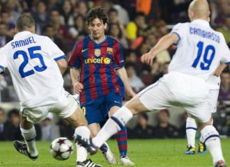 Messi durante un partido ante el Inter