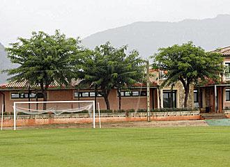 El Mallorca tuvo que ejercitarse en el gimnasio debido a las malas temperaturas.