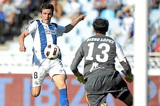 Llorente, jugando ante el Villarreal