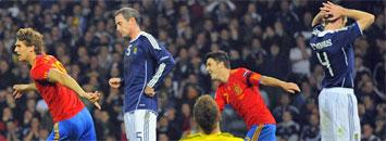 Escocia 2-3 Espa�a