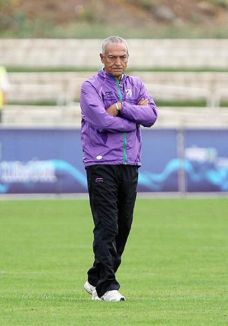 Jesualdo Ferreira, entrenador del M�laga.