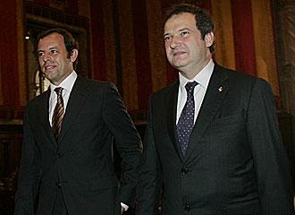 Sandro Rosell junto a Jordi Hereu