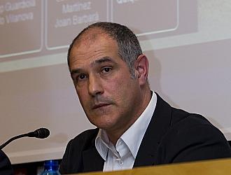 Zubizarreta, durante una conferencia de prensa