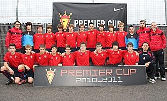 La plantilla de Osasuna, finalista de la Premier Cup sub-15