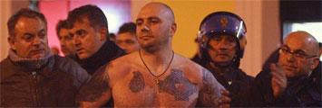 El hincha detenido en el Italia-Serbia