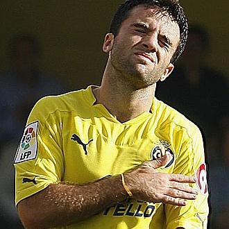 Rossi, lament�ndose en un partido del Villarreal.