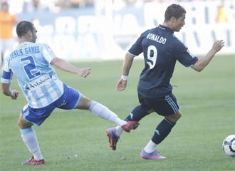 Cristiano y Jes�s G�mez, en el �ltimo M�laga-Real Madrid