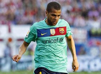 Alves en el Vicente Calder�n.
