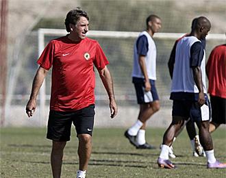 Esteban Vigo, en un entrenamiento del H�rcules