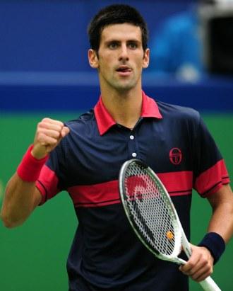 Djokovic celebra un punto ante Garc�a L�pez